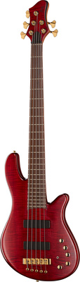 Franz Bassguitars Merak 5 NT red flamed maple