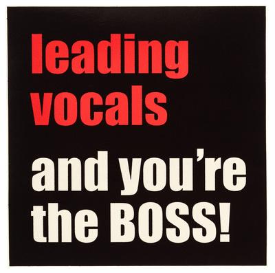 Bandshop Sticker Leading Vocals