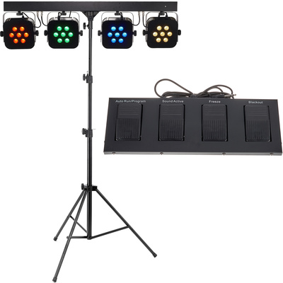 Stairville Stage Quad LED RGB WW Bundle