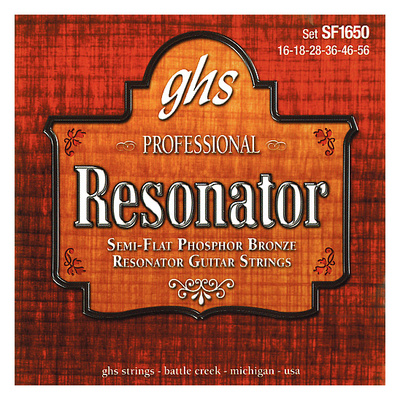 GHS 1650 SF Resonator Strings