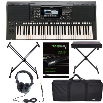 yamaha psr s775 deluxe bundle thomann united states. Black Bedroom Furniture Sets. Home Design Ideas