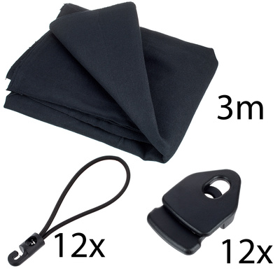 Stairville Euro Molton Set Black 3x 3 m