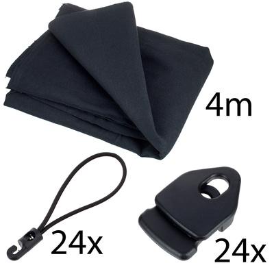 Stairville Euro Molton Set Black 4x 3 m
