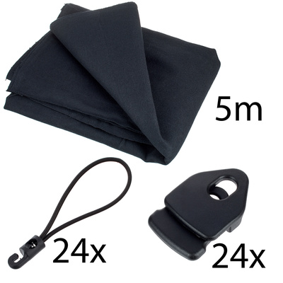 Stairville Euro Molton Set Black 5x 3 m