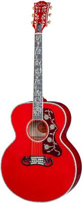Gibson SJ-200 Vine Trans Cherry Quilt