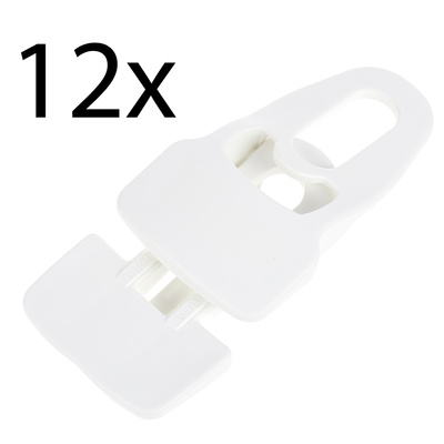 Holdon Midi Clip White 12pcs Pack