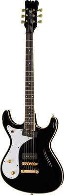 Eastwood Guitars Sidejack Baritone DLX BK LH