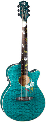 Luna Guitars Flora Moonflower Folk A/E TM