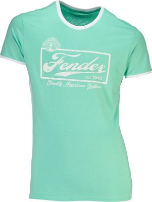 Fender T-Shirt Ringer Mint Green L