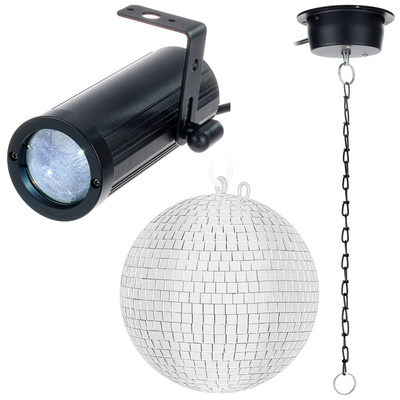 Fun Generation PinSpot Mirror Ball Bundle 20