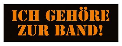 Bandshop Sticker Ich gehöre zur Band !