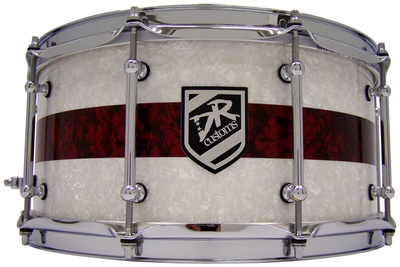 "DR Customs 14""x6,5"" White / Red Pearls"