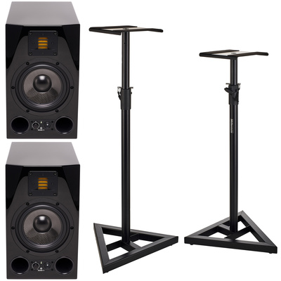 Adam A7X Glossy Black Stand Bundle