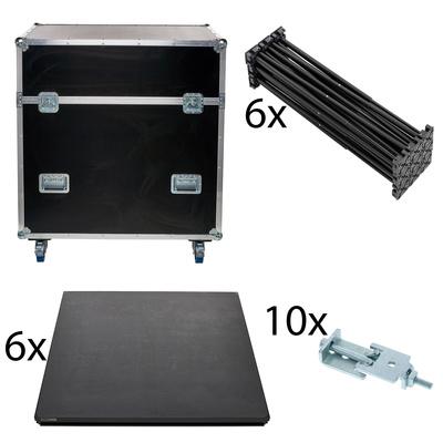 Stairville iX Stage 6x 1x1 40cm w. Case