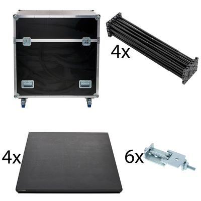 Stairville iX Stage 4x 1x1 60cm w. Case