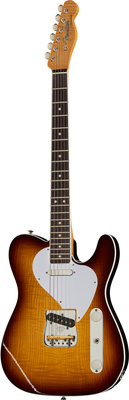 Fender Curly Ash Tele Dark Burst MBRT