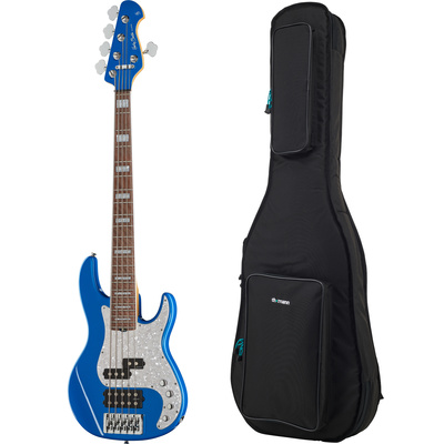 Harley Benton Enhanced MP-5EB Lake Bl Bundle