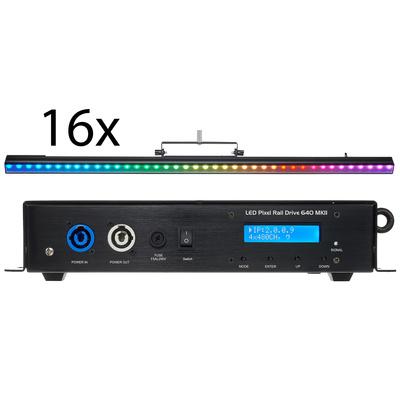 Stairville LED Pixel Rail 40 RGB M Bundle