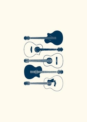 My World Acoustic Guitar Greeting Card