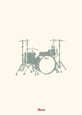 My World Drums Greeting Card