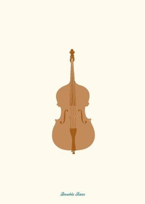 My World Double Bass Greeting Card