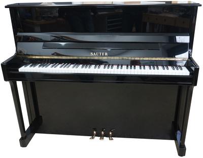 Sauter Piano, used, black polished