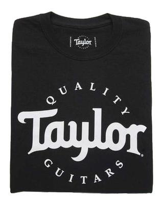 Taylor Basic Black Aged Logo Tshirt L