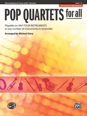 Alfred Music Publishing Pop Quartets For All Alto Sax