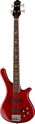 Career 4-String Bass Transparent Red
