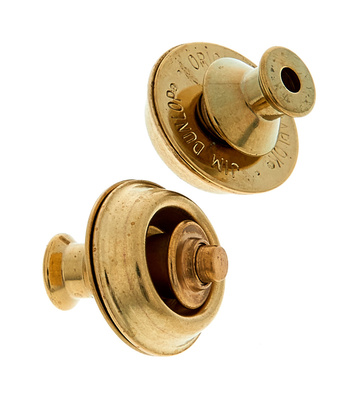 Dunlop Straplocks Brass Dual Design