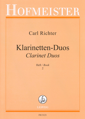 Hofmeister Verlag Richter Clarinet Duos 2