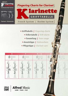 Alfred Music Publishing Grifftabelle Klarinette