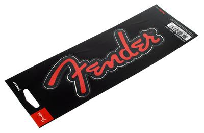 Fender Logo Sticker Red Glitter