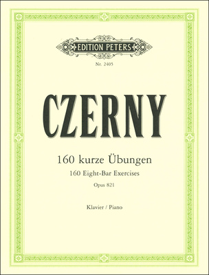 Edition Peters Czerny 160 kurze Übungen
