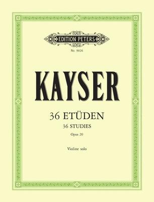 Edition Peters Kayser 36 Etüden op. 20 Violin