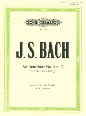 Edition Peters Bach Air D-Dur Klavier