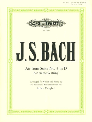 Edition Peters Bach Air D-Dur Violin/Piano