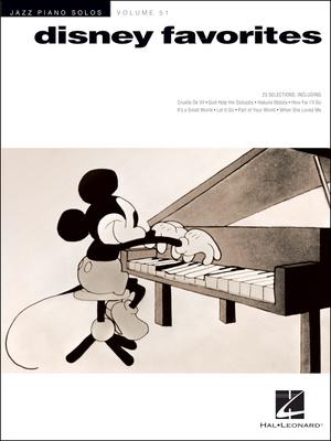 Hal Leonard Jazz Piano Solos Disney Favs