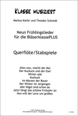 Goldbach Verlag Frühlingslieder Flute