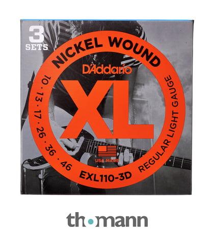 2x D´Addario EXL110 Saiten für E-Gitarre 010-046