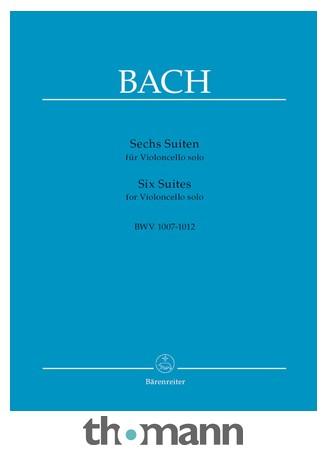 bach j s six suites for violoncello solo bwv 1007 1012 by barenreiter