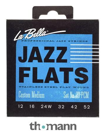 La Bella 20PCM Jazz Flats FWSS
