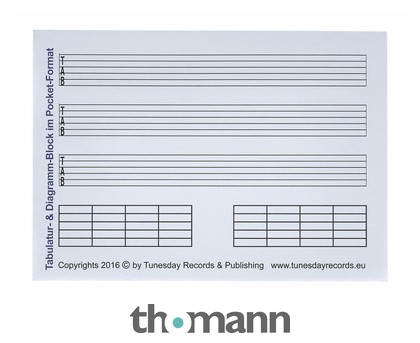 Tunesday Records Tab-Music Paper A6 – Thomann United States