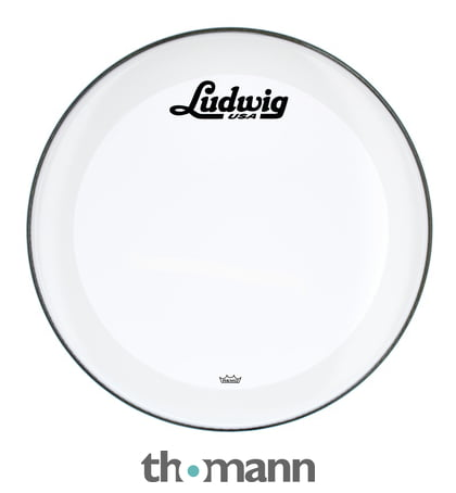 ludwig 22 bass drum head vint logo thomann uk. Black Bedroom Furniture Sets. Home Design Ideas