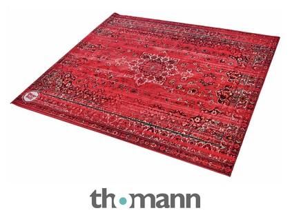 Red And Black Drum N Base Vintage Look Persian Stage Rug