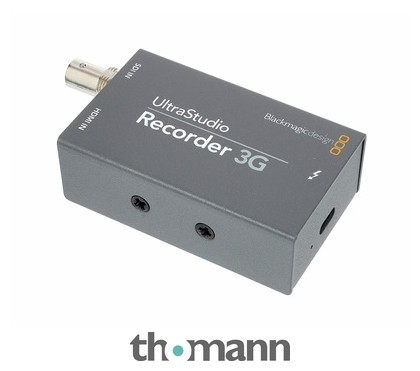 Blackmagic Design Ultrastudio Recorder 3g Thomann Uk